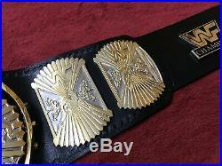 Championship Wrestling Belt Winged Eagle Belt In 4mm Zinc & 24kt Gold Plated