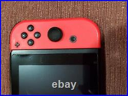Complete Working Nintendo Switch Neon Blue & Red Joy-Controller Dock Cords Case