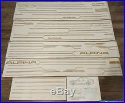 Custom ALPINA sticker side + bumpers decal kit graphics bmw pinstripes stripes