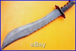 Custom Damascus Steel Hunting Bowie Knife / Sword / Dagger / The Huge Ranger