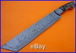 Custom Damascus Steel Hunting Knife Bush Craft Knife Huge Tanto, Bowie, Sword