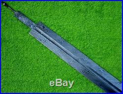 Custom Damascus Steel Knife / Hunting Viking Sword Blank Blade Dagger