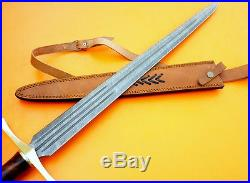 Custom Damascus Steel Medieval Knight Sword / Knife / Dagger / Bowie / 32l