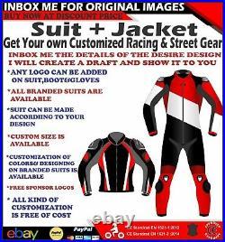 Custom Design Motorbike Motorcycle Leather Racing/street 1 Piece Suit & Jacket