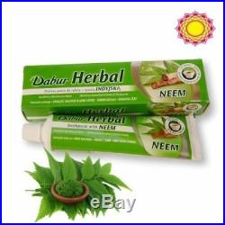 DABUR Herbal NEEM Toothpaste Fight Bacteria Protect Gums Teeth Strong 100ml Tube