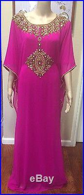 DUBAI VERY FANCY KAFTANS Abaya Jalabiya Ladies Maxi Dress Wedding gown