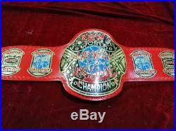 ECW WORLD HEAVYWEIGHT WRESTLING CHAMPIONSHIP Red BELT. ADULT SIZE (2mm plates)