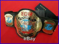 ECW World Heavyweight Wrestling Championship Belt Adult Size In 2mm Brass Plate