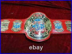 Ecw World Heavyweight Wrestling Championship Belt. Adult Size Brass Metal Plate