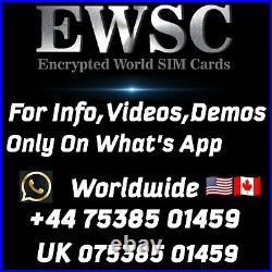 Encrypted SIM Cards, 3 Months Unlimited World Calls