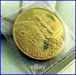 FUJAIRAH Gold Proof 100 Riyals AH1388(1969) Apollo XII Astronauts & Moon