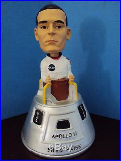 Fred Haise Apollo13 Astronaut Jethawks Bobblehead Promotion Item and signed CARD