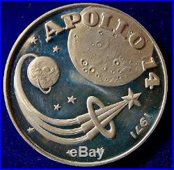 Fujairah, United Arab Emirates, 10 Riyals 1971 Crown Size Silver Coin Apollo 14
