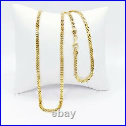GENUINE 22K Solid Gold Box Chain Necklace 20.25 Thickness 2.75mm Hallmarked 916