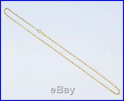 GENUINE 22K Solid Gold Chain Necklace 18 Singapore Twist Curb Thin Hallmark 916