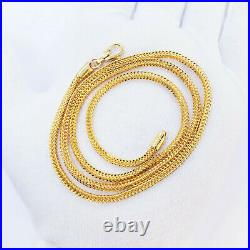 GENUINE 22K Solid Yellow Gold Franco Chain Necklace 22.25 / 2.48mm Hallmark 916