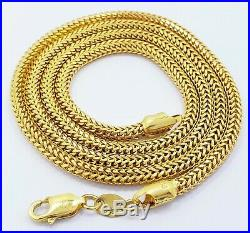 GENUINE 22K Yellow Gold Chain Necklace 20 Franco Rounded 3MM Hallmarked 916