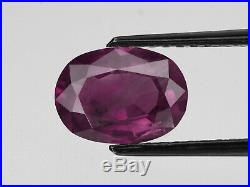 GIA Certified KASHMIR Ruby 2.69 Cts Natural Untreated Deep Purplish Red Oval