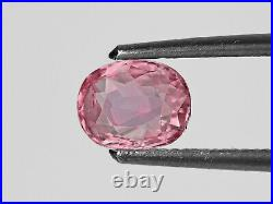 GIA Certified MADAGASCAR Padparadscha Sapphire 1.26 Cts Natural Untreated Oval