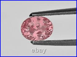 GIA Certified MADAGASCAR Padparadscha Sapphire 1.35 Cts Natural Untreated Oval