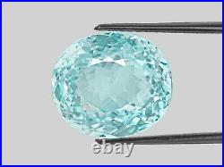 GIA Certified MOZAMBIQUE Paraiba Tourmaline 15.79 Cts Natural Untreated Oval