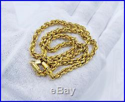 GOLDSHINE 22K Gold Rope Chain Necklace 20.8 Hallmark 916 Thickness 5mm Genuine