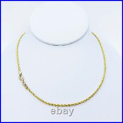 GOLDSHINE 22K Gold Rope Chain Necklace 21 Hallmarked 916 Lobster Clasp 2.2mm