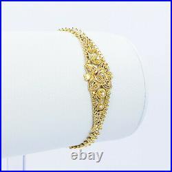 GOLDSHINE 22K Solid Gold Bracelet Girl 5-5.75 Genuine Hallmark 916 Handcrafted