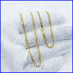 GOLDSHINE 22K Solid Gold Franco Chain Necklace 22 Thickness 1.3mm Hallmark 916