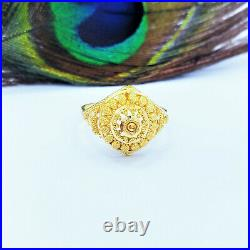 GOLDSHINE 22K Solid Gold RING US Size 7 Woman Genuine Hallmarked 916 Handcrafted