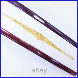GOLDSHINE 22K Solid Gold Women Bracelet 5-6 Genuine Hallmarked 916 Handcrafted