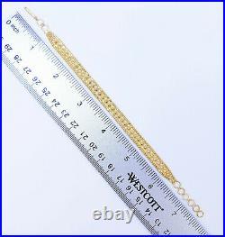GOLDSHINE 22K Solid Gold Women Bracelet 6.5-7.5 Genuine Hallmarked Handcrafted