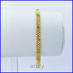 GOLDSHINE 22K Solid Gold Women Bracelet 6.75-7.25 Hallmarked 916 22KT GORGEOUS