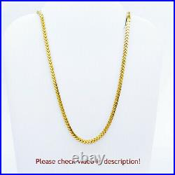 GOLDSHINE 22K Solid Yellow Gold Chain Necklace Franco 24 1.92mm Hallmarked 916
