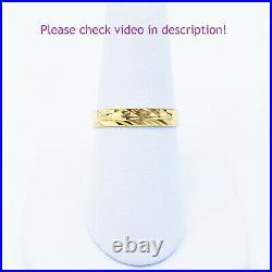 GOLDSHINE 22K Solid Yellow Gold Female Band Ring US 8.5 Genuine Hallmarked 916