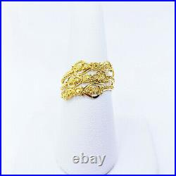 GOLDSHINE 22K Solid Yellow Gold RING US 8 Women Genuine Hallmark 916 Handcrafted