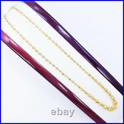 GOLDSHINE 22K Yellow Gold Beaded Chain Necklace 17.25 Genuine Hallmark 916 22KT