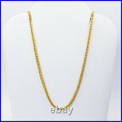 GOLDSHINE 22K Yellow Gold Chain Necklace 18 Beaded Genuine Hallmarked 916