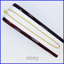 GOLDSHINE 22K Yellow Gold Rope Chain Necklace 18 2.68mm Genuine Hallmarked 916