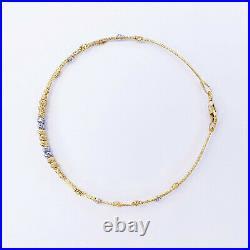 GOLDSHINE 22K Yellow White Gold Bangle Bracelet 2.25 Or 7 Genuine Hallmark 916