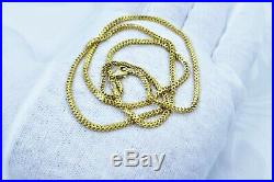 GOLDSHINE Chain Necklace GENUINE 22K Solid Yellow Gold 23.5 Franco Hallmarked