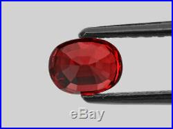 GRS Certified BURMA Ruby 1.08 Cts Natural Untreated Fiery Vivid Pigeon Blood Red