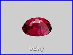 GRS Certified BURMA Ruby 1.15 Cts Natural Untreated Lively Pigeon Blood Red Oval