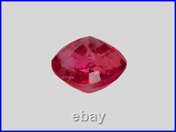 GRS Certified MOZAMBIQUE Ruby 2.01 Cts Natural Untreated Fiery Vivid Pinkish Red
