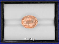 GRS Certified SRI LANKA Padparadscha Sapphire 13.05 Cts Natural Untreated Oval