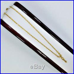 Genuine 22K Gold Beaded Chain Necklace 18.25 with dangler pendant Hallmark 916