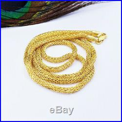 Genuine 22K Gold Chain Necklace 18.25 Round 2.6mm Thick Hallmarked High Quality