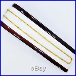 Genuine 22K Gold Chain Necklace 20.25 Round 2.6mm Thick Hallmarked High Quality