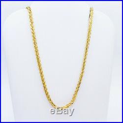 Genuine 22K Gold Chain Necklace 24.25 Hallmarked 916 Lobster Clasp 2.5mm UNIQUE