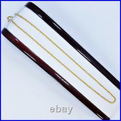 Genuine 22K Gold Rope Chain Necklace 18 Hallmark 916 1.75mm Light Weight 2.32gm